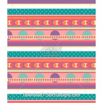 Cute Colorful Spotty Stripe Seamless Pattern