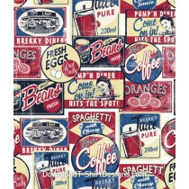 Retro Food Diner Restaurant Poster Seamless Pattern