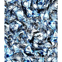 Broken Blue Ice Water Seamless Pattern