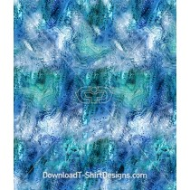 Abstract Blue Aqua Ocean Reef Maze Seamless Pattern