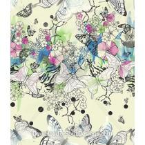 Pastel Oriental Butterfly Floral Seamless Pattern