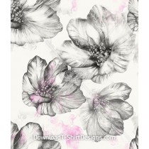 Large Illustrated Floral Bloom Seamless Pattern