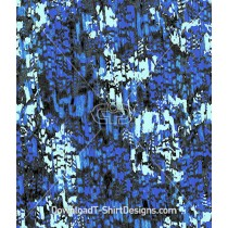 Distorted Blue Abstract Snake Skin Seamless Pattern