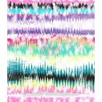 Distorted Colorful Tie Dye Stripe Seamless Pattern