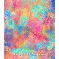 Colorful Blotchy Paint Effect Seamless Pattern