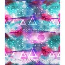 Aztec Pattern Overlay Watercolor Seamless Pattern