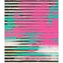 Pink Green Sprayed Distorted Stripe Seamless Pattern