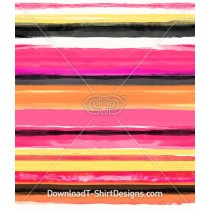 Pink Painted Watercolor Stripe Seamless Pattern