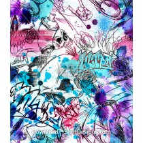 Graffiti Scribble Watercolor Seamless Pattern