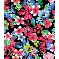 Bright Color Painted Floral Seamless Pattern