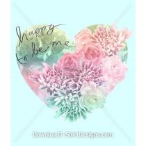 Happy Floral Pastel Heart