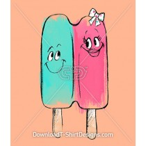 Painted Brushstroke Popsicle Friends