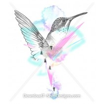 Beautiful Pastel Painted Humming Bird