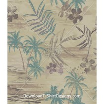 Vintage Palm Leaf Seamless Pattern