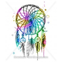 Watercolor Feather Dream Catcher