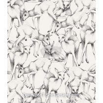 Cute Deer Animal Sketch Seamless Pattern
