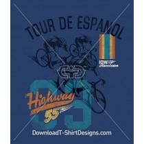 Retro Sport Cycling Bike Tour De Espanol