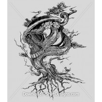 Twisted Tree Roots Skull