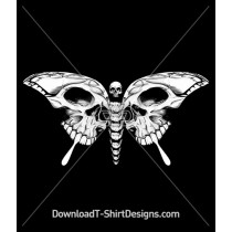 Skull Bones Skeleton Butterfly