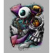 Graffiti Eyeball Skull Monster BMX Bike