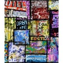 Neon Sign Graffiti Wall Seamless Pattern