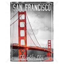 Vintage San Fransico Golden Gate Bridge