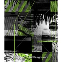 Abstract Green Palm Leave Beach Seamless Pattern