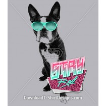 Retro 80's Bulldog Animal Glasses