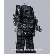 Rockin Speaker Amplifier Robot