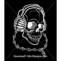 Bones Headphone Skull Skeleton