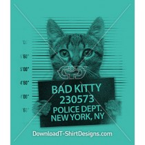 Bad Kitty Cat Police Line Up
