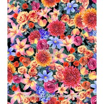 Extreme Bright Floral Collage Repeat