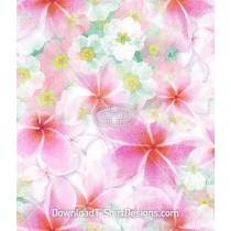 Soft Pastel Frangipani Flower Repeat