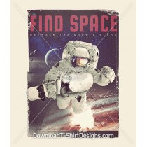 Astronaut Snowboarder Planet Space
