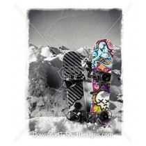 Graffiti Snowboard Snow Mountain Winter