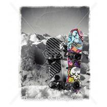 Graffiti Snowboard Snow Mountain Winter