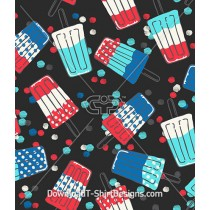 Retro Popsicle Watercolor Spot Repeat