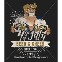 Beer & Cheer USA 4th of July Character