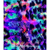 Psychedelic Abstract Snake Skin Repeat