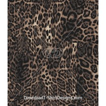 Warped Leopard Skin Seamless Pattern