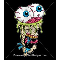 Scary Screaming Ice Cream Zombie Monster