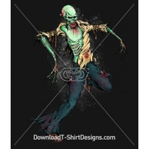Walking Dead Zombie Monster Skeleton