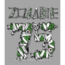Zombie 75 Bones Skeleton Eyeballs Bandages