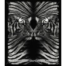 Mirrored Tiger Head
