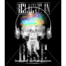 Believe in Base X-Ray Skull Music Headphones