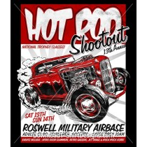Vintage Hot Rod Car Poster