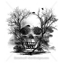 Scary Tree Skull Haunted House