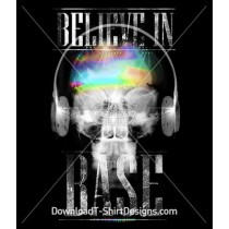 Believe in Base X-Ray Skull Headphones