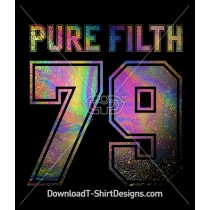 Holographic Oil Spill Pure Filth Collegiate Number