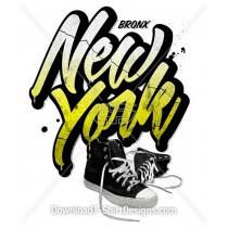 Bronx New York Grunge Sneaker Shoes